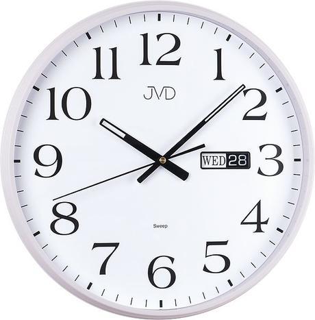 Nástenné hodiny JVD sweep HP671.1 36cm biele,