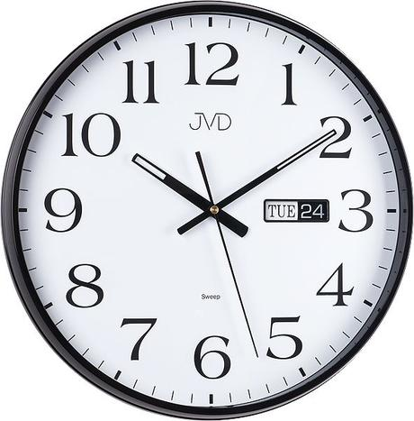 Nástenné hodiny JVD sweep HP671.2 36cm čierne,