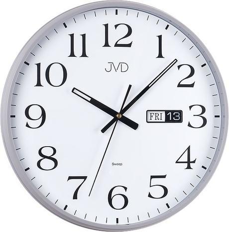 Nástenné hodiny JVD sweep HP671.2 36cm strieborne,