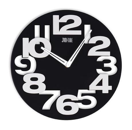 Nástenné hodiny JVD TIME 80/2 čierne 31cm,