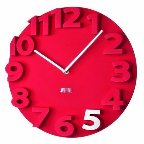 Nástenné hodiny JVD TIME červené 40cm,
