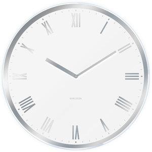 Nástenné hodiny KA5423WH biele Karlsson 40cm,