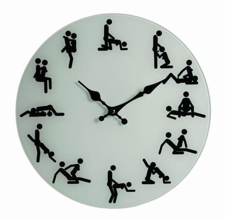 Nástenné hodiny Kámasútra, 35cm  ,
