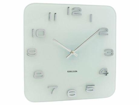 Nástenné hodiny Karlsson Vintage biele,
