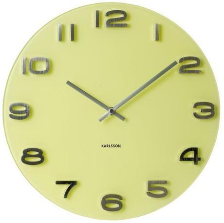 Nástenne hodiny Karlsson Vintage okrúhle žlté 35cm,