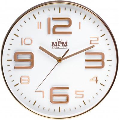 Nástenné hodiny MPM, 3221.81 - šampaň, 30cm,