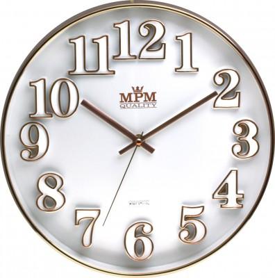Nástenné hodiny MPM, 3222.00 - biela, 30cm,