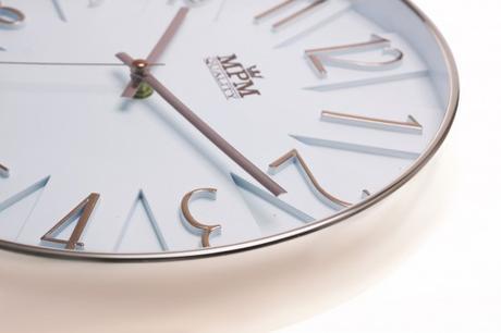 Nástenné hodiny MPM, 3223.81 - šampaň, 30cm,
