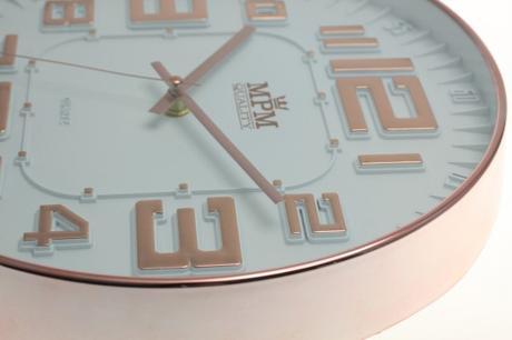 Nástenné hodiny MPM, 3225.81 - šampaň, 30cm,