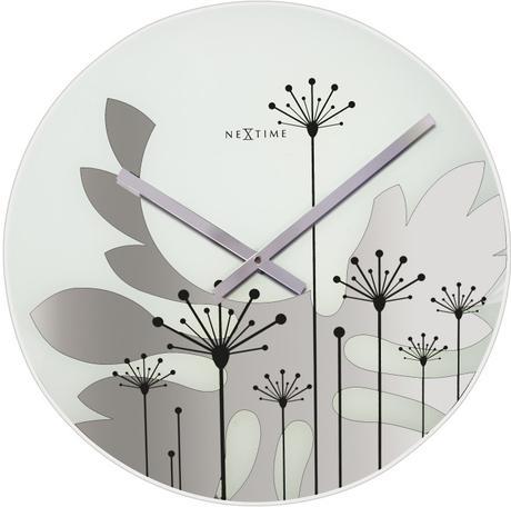 Nástenné hodiny Nextime GRASS čiernobiele,
