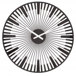Nástenné hodiny PIANO , Koziol, čierna, 45cm,