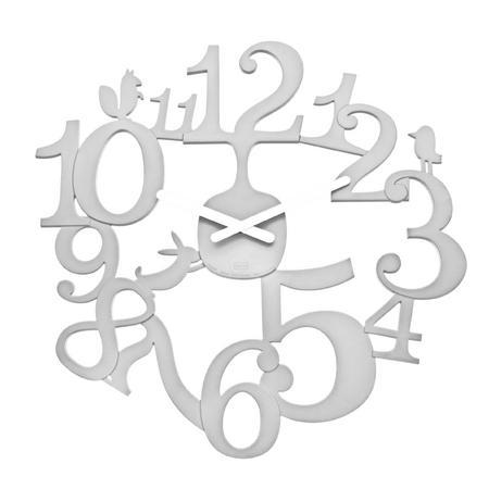 Nástenné hodiny pip biela, 45cm,