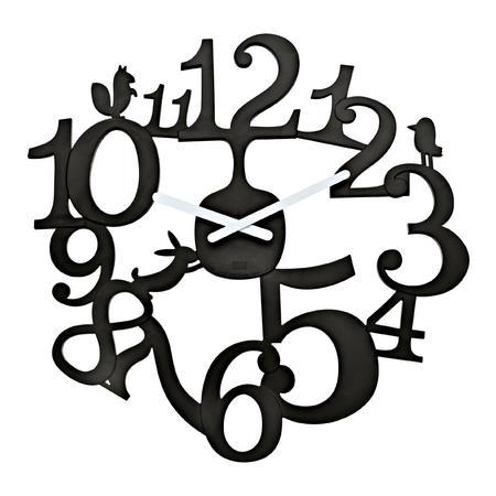 Nastenne hodiny pip čierna, 45cm,