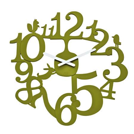 Nastenne hodiny pip olivova, 45cm,