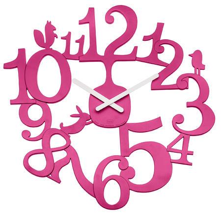Nastenne hodiny pip ružova, 45cm,