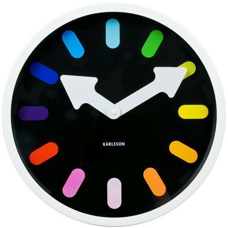 Nástenné hodiny Rainbow Ka5257WH 30cm,
