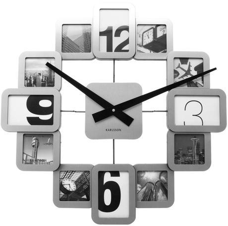 Nástenne hodiny s foto KA5180 41cm,