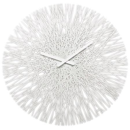 Nástenné hodiny SILK biela, 45cm,
