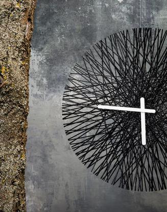 Nástenné hodiny SILK čierna, 45cm,