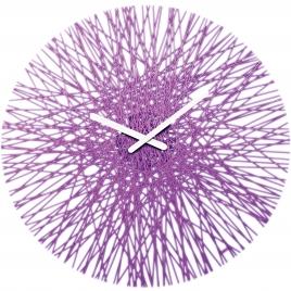 Nástenné hodiny SILK transparentná fialova, 45cm,