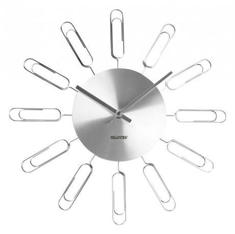 Nástenné hodiny WA1024SI- MC Karlsson 40cm,