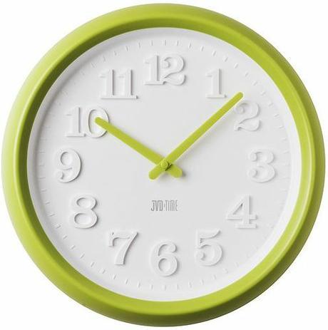 Nástenné hodiny zelené 31cm,