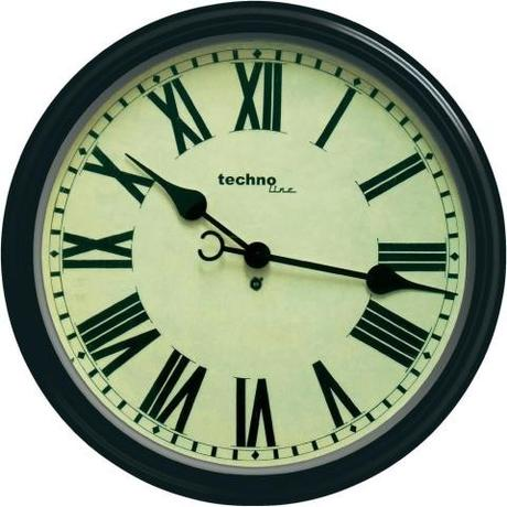 Nástenné retro hodiny Techno Line, 50 cm,
