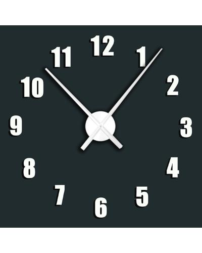 Nástenné samolepiace hodiny - biele ,
