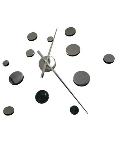 Nástenné samolepiace hodiny - kruhy,