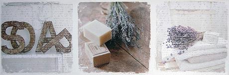 Obraz na plátne 30x90cm lavender & soap bielo-šedý,