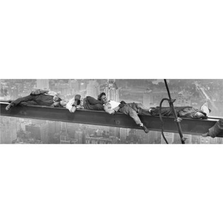 Obraz na plátne New York robotníci, 36x118cm,