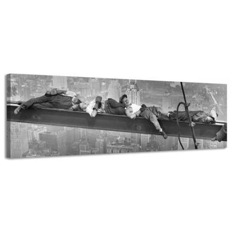 Obraz na plátne New York robotníci, 46x158cm,