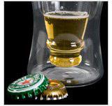 Pohár na pivo Pivová fľaša 300ml,