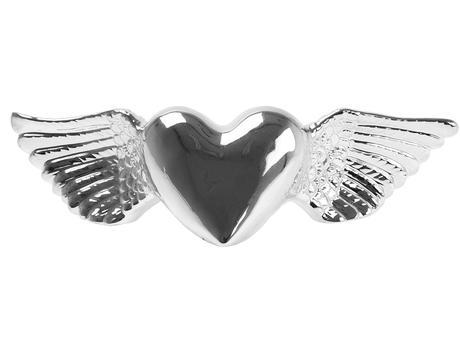 Pokladnička - okrídlené srdce 33cm,