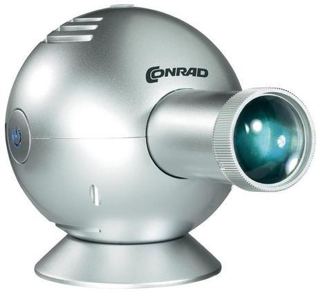 Projektor nástenných hodín Conrad silver,