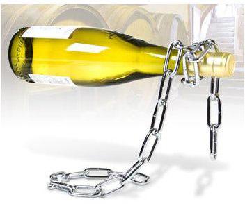 Reťazový držiak na víno,