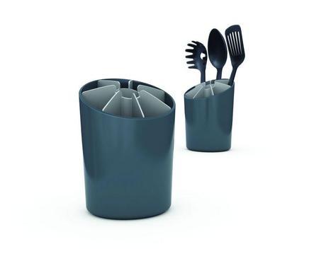 SEGMENT stojan na kuchynské nástroje šedý,