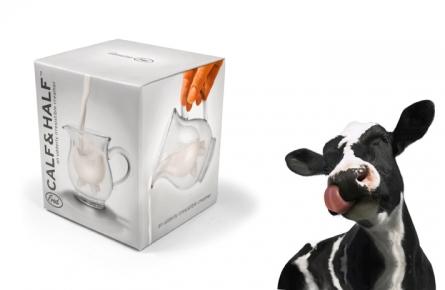 Sklenená konvička na mlieko fred,