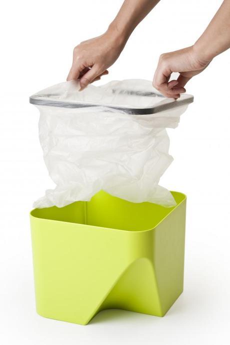 Stohovateľný odpadkový kôš Qualy Block 30, biely,
