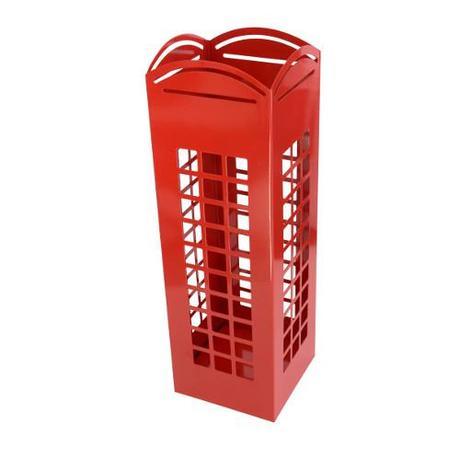 Stojan na dáždniky INVOTIS English Phone, červený,