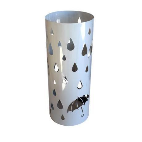 Stojan na dáždniky INVOTIS Round, biely,