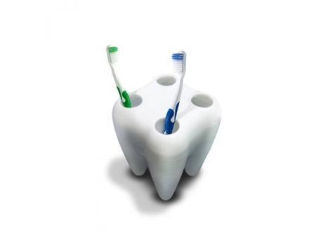Stojan na kefky - zub,