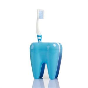 Stojan na kefky zub modrý,