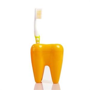 Stojan na kefky zub oranžový,