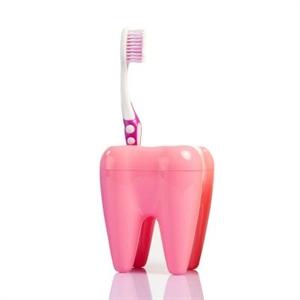Stojan na kefky zub ružový,