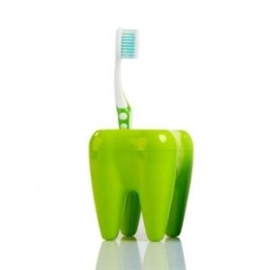 Stojan na kefky zub zelený,
