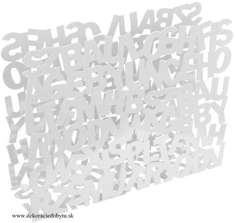 Stojan na noviny ABC biely 41x32 cm,