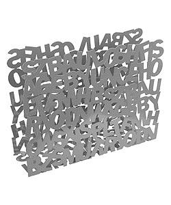 Stojan na noviny ABC strieborny 41x32 cm,