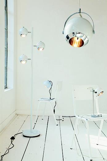 Stolná lampa Retro Mini biela 35cm,