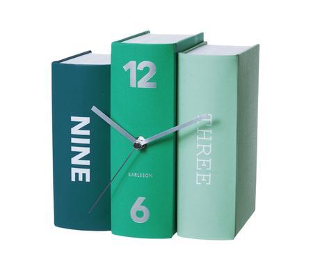 Stolové hodiny Karlsson Kniha 5514 pastell 20 cm,